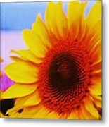 Sunflower At Beach Metal Print