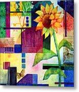 Sunflower Collage 2 Metal Print