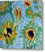 Sunflower Cycle Of Life 1 Metal Print by Vicky Tarcau
