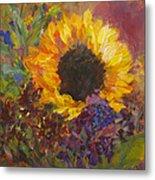 Sunflower Dance Original Painting Impressionist Metal Print