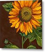 Sunflower Metal Print by Diane Ferron