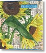 Sunflower Dictionary 1 Metal Print