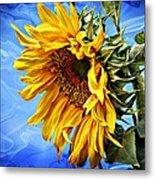 Sunflower Fantasy Metal Print