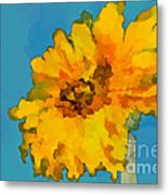 Sunflower Illusion Metal Print