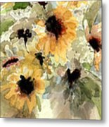 Sunflower Impressions Metal Print