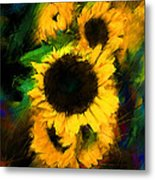 Sunflower In Motion Metal Print