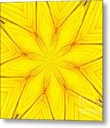 Sunflower Kaleidoscope 1 Metal Print