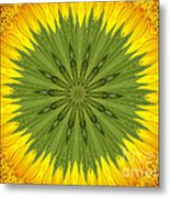Sunflower Kaleidoscope 3 Metal Print