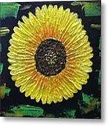 Sunflower Metal Print by Kat Poon