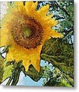 Sunflower Light Metal Print