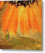 Sunflower Montage Metal Print