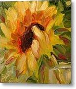 Sunflower Morning Metal Print