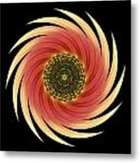 Sunflower Moulin Rouge Vii Flower Mandala Metal Print