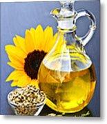 Sunflower Oil Bottle Metal Print