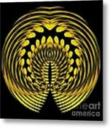 Sunflower Polar Coordinate Effect 1 Metal Print