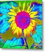 Sunflower Pop Metal Print