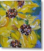 Sunflower Quartet Metal Print