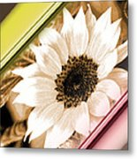 Sunflower Rail Metal Print