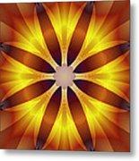 Sunflower Rose Metal Print
