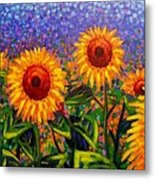 Sunflower Scape Metal Print