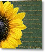 Sunflower Scripture Metal Print