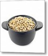 Sunflower Seeds In A Black Cup Metal Print