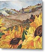 Sunflower Serenity Metal Print by Meldra Driscoll