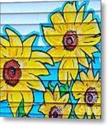 Sunflower Street Art Saint Johns Nfld Metal Print