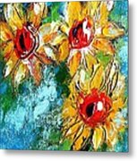 Sunflower Study Painting Metal Print