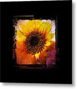 Sunflower Sunset - Art Nouveau  Metal Print