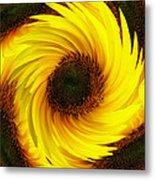 Sunflower Twirl Metal Print