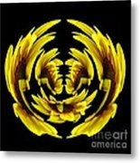 Sunflower With Warp And Polar Coordinates Effects Metal Print