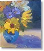 Sunflowers And Daisies Metal Print