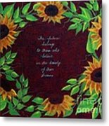 Sunflowers And Dreams Metal Print