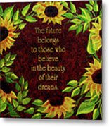 Sunflowers And Future Poem Metal Print