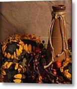 Sunflowers And Vase Metal Print
