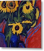 Sunflowers Metal Print by Ernst Ludwig Kirchner