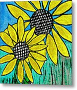 Sunflowers For Fun Metal Print