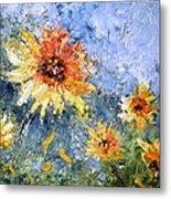 Sunflowers In Bloom Metal Print