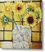 Sunflowers Metal Print by Michael Crapser
