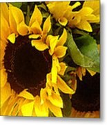 Sunflowers Wide Metal Print
