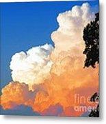 Sunkissed Storm Cloud Metal Print