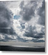 Sunlight Breaks Through The Clouds Metal Print