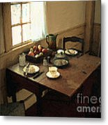 Sunlight On Dining Table Metal Print