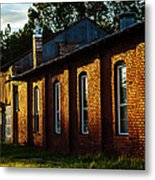 Sunlight On Old Brick Building - Ellensburg - Washington Metal Print