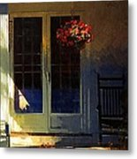 Sunlight On Scarlet - New England Autumn Metal Print