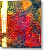 Sunlight Sliver On Abstract Metal Print