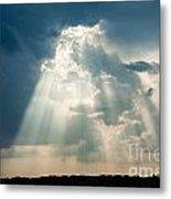 Sunlight Through The Clouds Metal Print