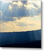 Sunlit Mountains Metal Print by Candice Trimble