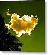 Sunlit Yellow Cloud Metal Print